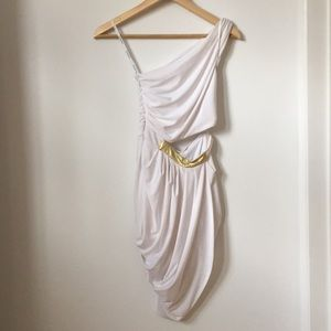 Bebe white toga dress size XS
